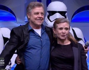 Carrie Fisher y Mark Hamil