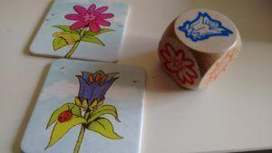 El Frutalito de Haba - dado y tarjetas