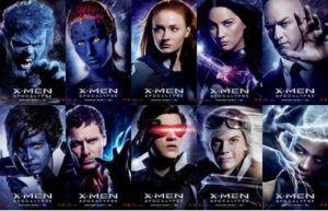 X-Men Apocalipsis - personajes